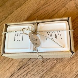 Rae Dunn BEST MOM Set of 2 Small Trinket Boxes